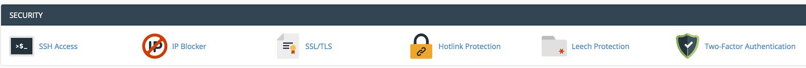 Kliknite SSH pristup