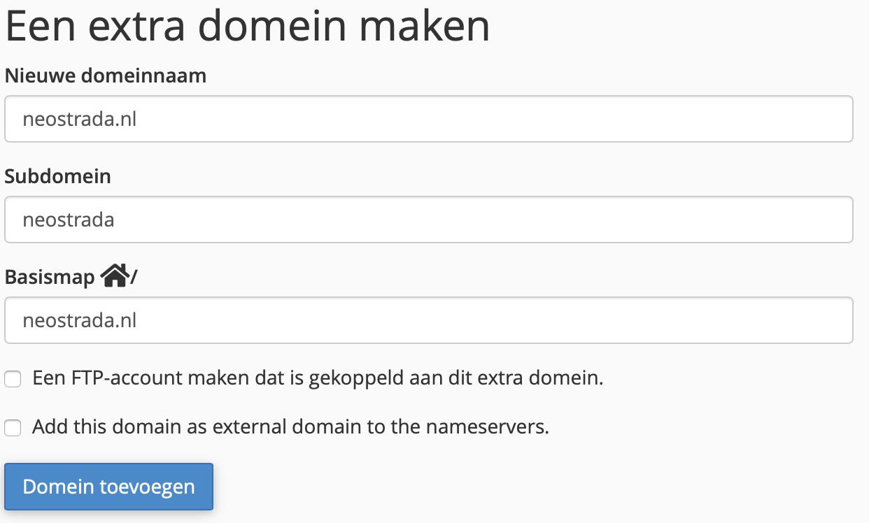 Extra domein