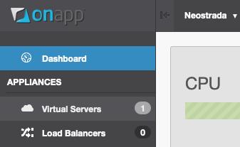 Virtual Servers menu