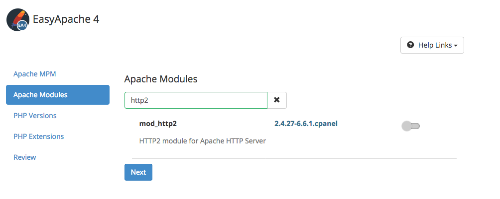 Search for the HTTP/2 module