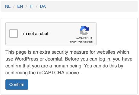 reCAPTCHA sigurnost