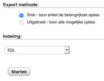 Export methode