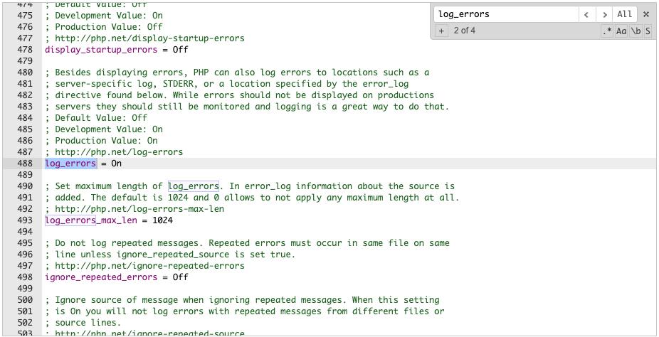 log_errors = isključeno