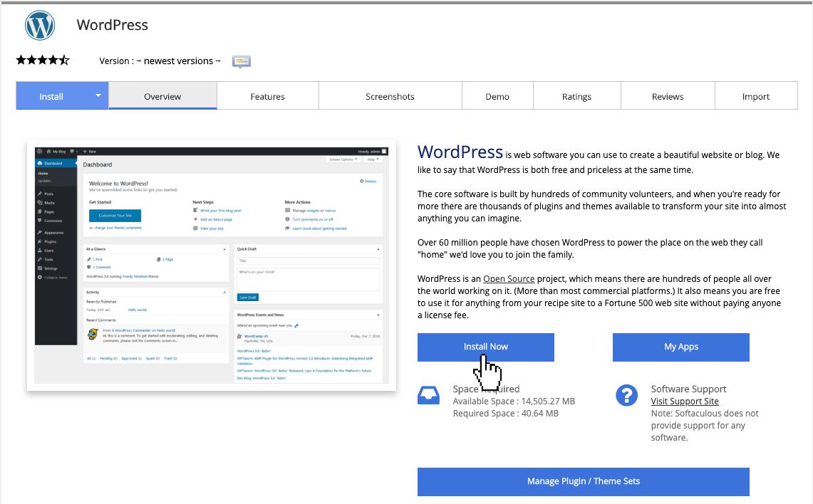 WordPress installeren